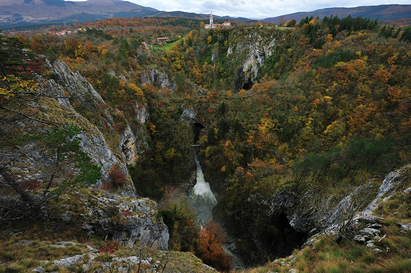 Skocjan Valley in autumn